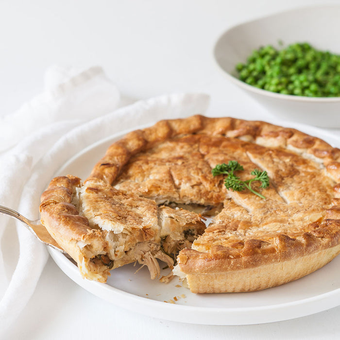Chicken and Leek Family Pie