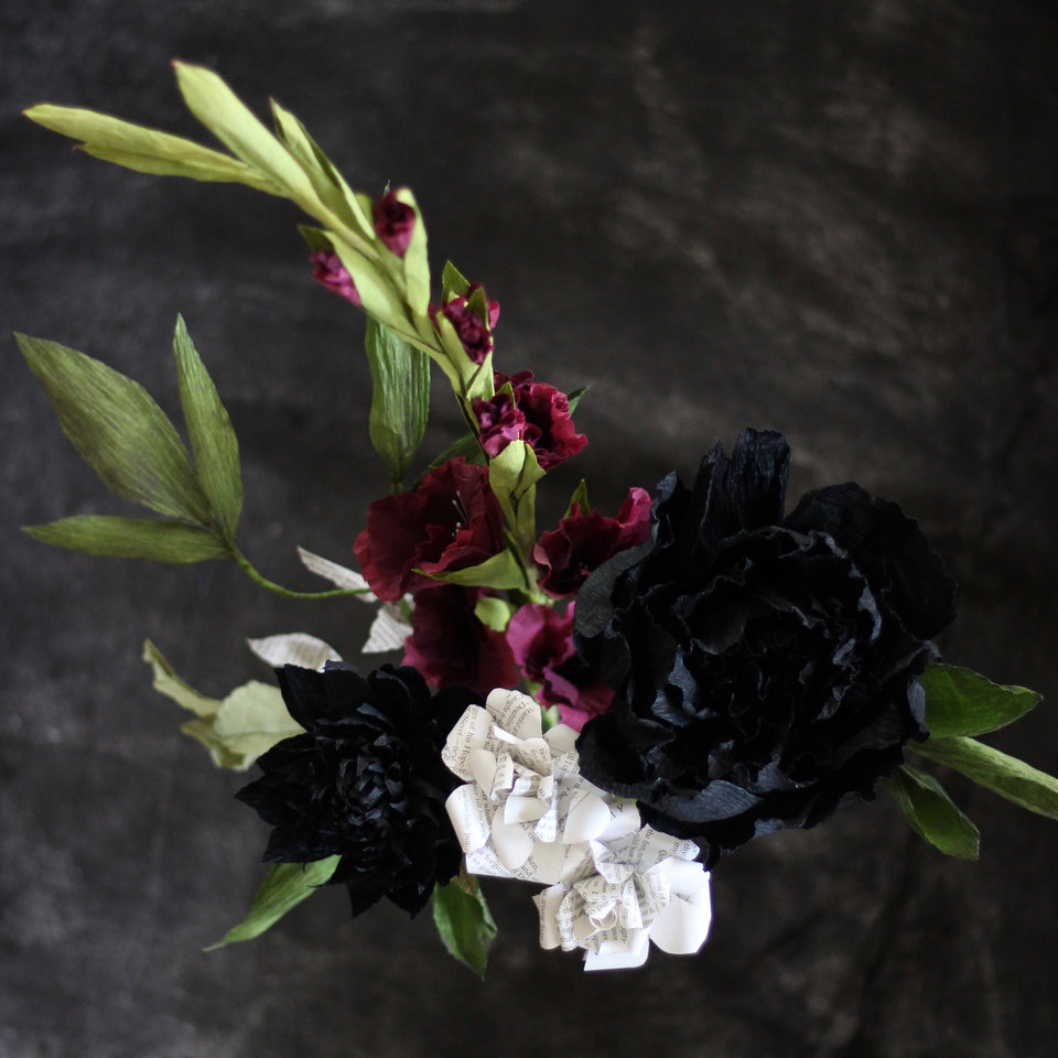 """The Edgar"" - Edgar Allan Poe Paper Flower Bundle"