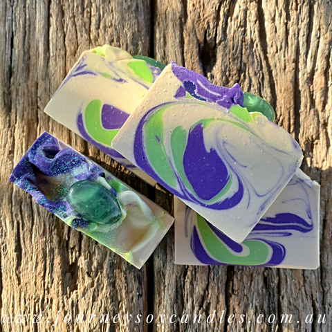 Blissful Harmony, Fluorite Crystal Artisan Soap - JOURNEY artisan soaps & candles