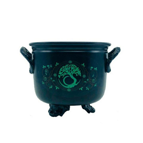 Metal Cauldron with Tree of Life