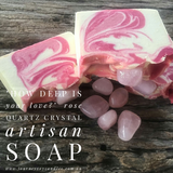 How deep is your love? - Rose Quartz Artisan Crystal Soap - JOURNEY artisan soaps & candles