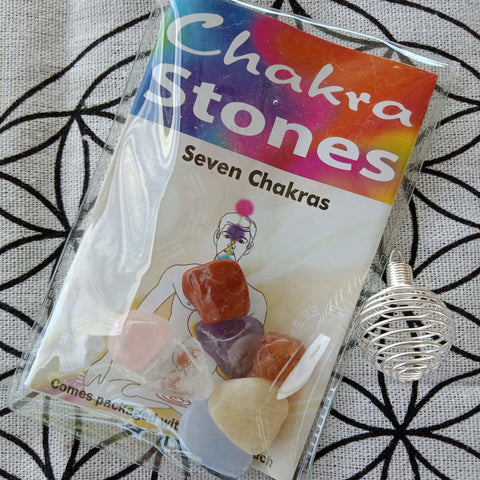 Chakra Balancing Gift Pack, 7 stones & Information Booklet - JOURNEY artisan soaps & candles