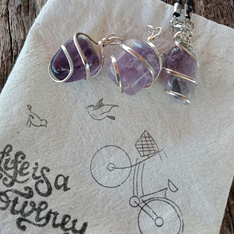 JOURNEY Crystal Pendant - Amethyst - Definitely Spiritual - JOURNEY artisan soaps & candles