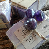 Sacred Space Crystal Soap - Amethyst Artisan Soap - JOURNEY artisan soaps & candles