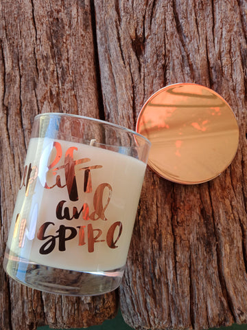 Oxford Classic Soy Candle with Rose Gold Lid - JOURNEY artisan soaps & candles