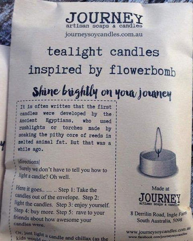 JOURNEY Artisan Soy Tealight Candles in your favourite fragrance - JOURNEY artisan soaps & candles