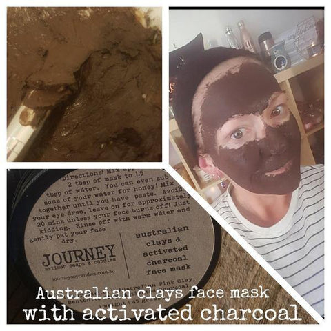 Detox Clay Face Mask with Activated Charcoal - JOURNEY artisan soaps & candles