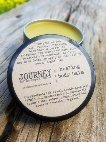 JOURNEY Healing Balm - an unfragranced, awesome dry skin treatment - JOURNEY artisan soaps & candles