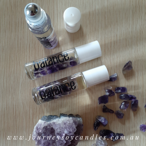 Balance,  Crystal-infused Healing Perfume - Frankincense Essential Oil