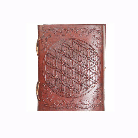 Flower of Life Embossed Leather Journal
