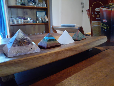 Amethyst, Rose Quartz & Selenite Orgonite Pyramid