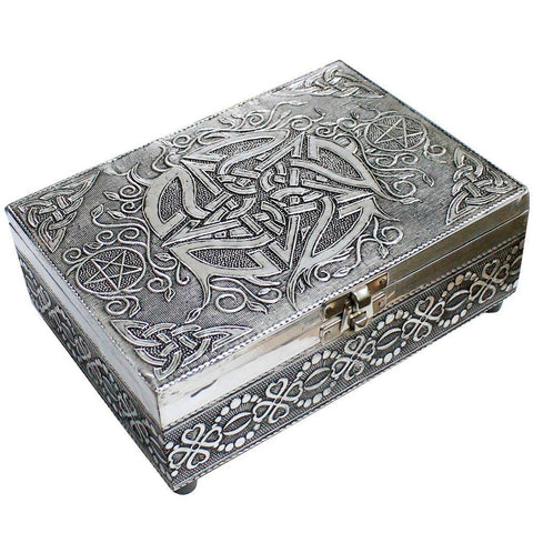 Pentagram White Metal Box