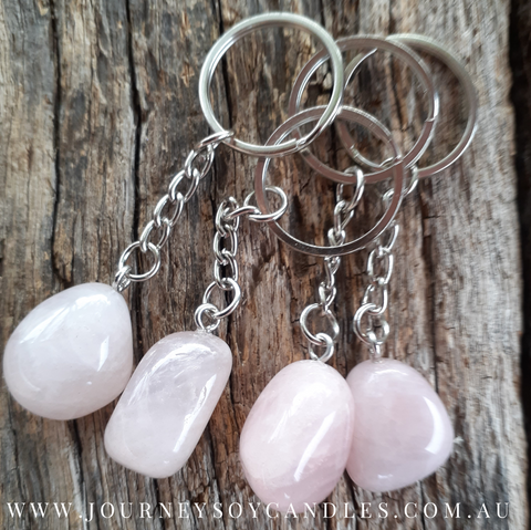 Rose Quartz Keyring