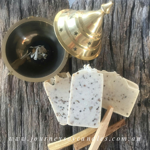 Palo Santo Experience Smudge Soap - JOURNEY artisan soaps & candles