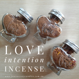 Intention Incense, Love - JOURNEY artisan soaps & candles