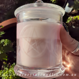 Etched Triple Moon Pentagram Soy Candle