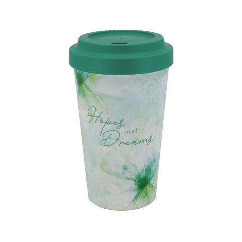 You Are An Angel - Hopes and Dreams Bamboo Travel Mug - JOURNEY artisan soaps & candles