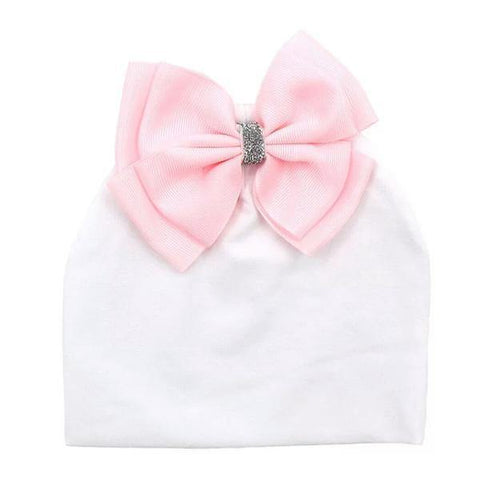 "Personalised Baby Beanie ""Love your Bow Baby Gurl"" - JOURNEY artisan soaps & candles"