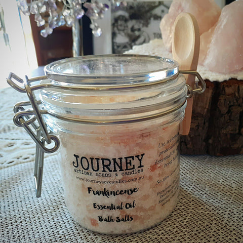 Balance Ritual Bath Salts, Frankincense Essential Oil - JOURNEY artisan soaps & candles