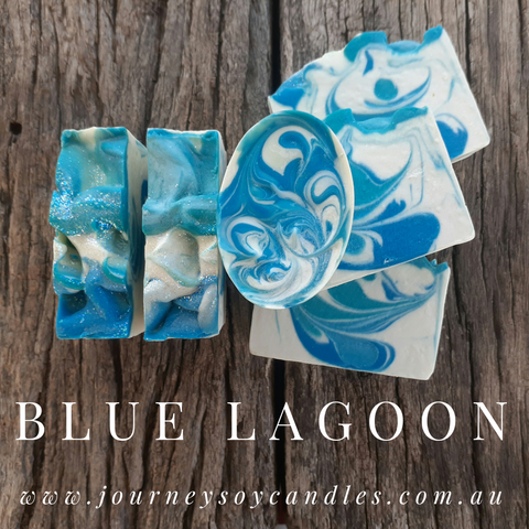Blue Lagoon Soap Bar - JOURNEY artisan soaps & candles