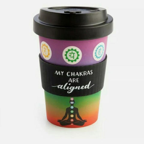 Eco-to-Go My Chakras are Aligned Bamboo Travel Cup with Sleeve - JOURNEY artisan soaps & candles