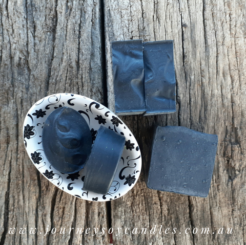 Bare Essentials - Detox with Activated Charcoal, Organic Hempseed & Avocado Oil - JOURNEY artisan soaps & candles