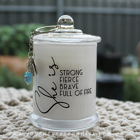 Gina Soy Candle, 'She is Strong' - JOURNEY artisan soaps & candles
