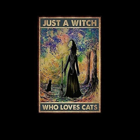 Just a Witch who loves Cats Tin Sign