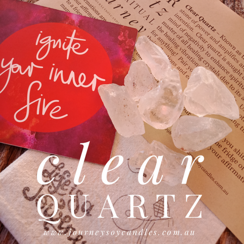 Rough Clear Quartz Gift Bag - My Healing Crystal Journey - JOURNEY artisan soaps & candles