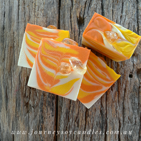 Walking on Sunshine, Citrine Artisan Soap - JOURNEY artisan soaps & candles