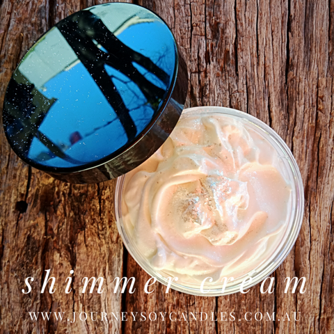 Your favourite fragrance, shimmer cream - JOURNEY artisan soaps & candles