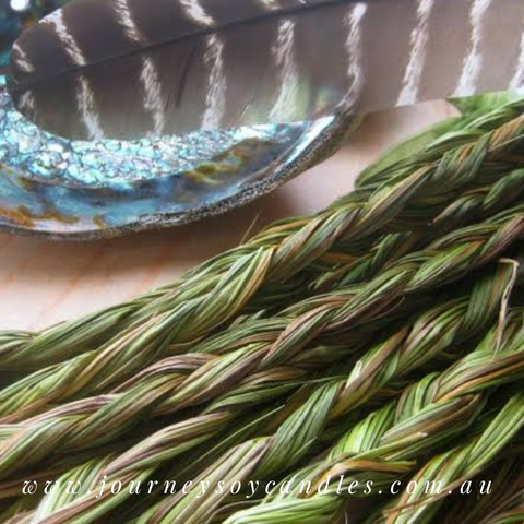 Sweetgrass Braid, sweetly smudge for healing, peace and spirituality - JOURNEY artisan soaps & candles