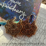 Boho Earrings - copper & silver - JOURNEY artisan soaps & candles