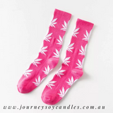 Hippy Hemp Leaf Socks - JOURNEY artisan soaps & candles