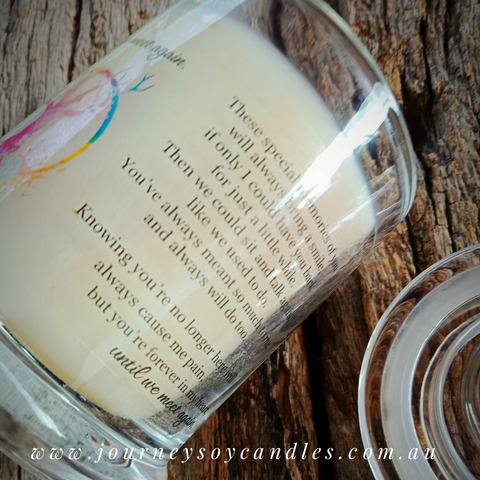Life Celebration Soy Candle, celebrate life, family & love - JOURNEY artisan soaps & candles