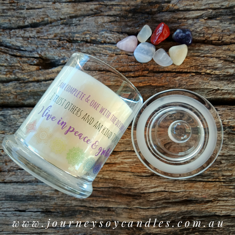 A Journey of Intent - Chakra Balancing Candle - JOURNEY artisan soaps & candles