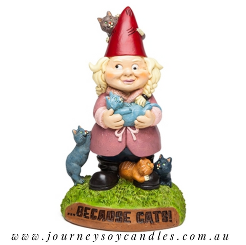 Big Mouth 'Crazy Cat Lady' Garden Gnome