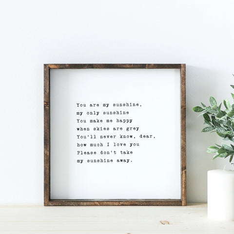 you are my sunshine wood sign, sunshine wood sign, nursery sign