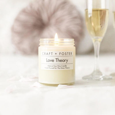 Craft + Foster Candle 8oz Love Theory - Natural Soy Wax Candle