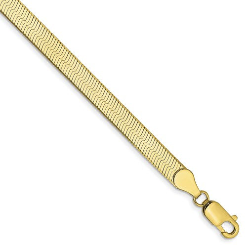 10k Yellow Gold 5mm Silky Herringbone Bracelet Anklet Choker Necklace Pendant Chain