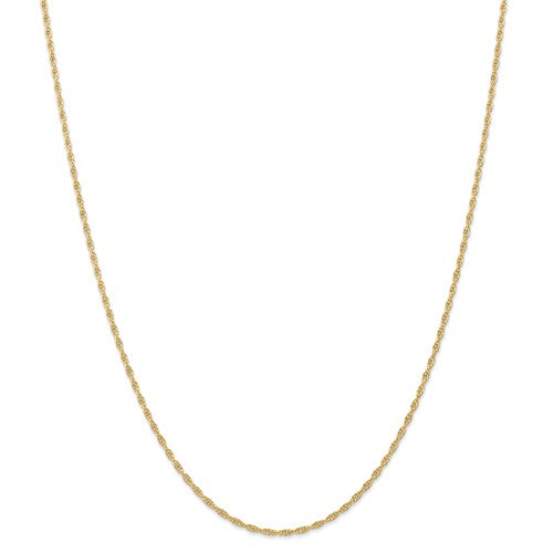 14k Yellow Gold 1.55mm Cable Rope Bracelet Anklet Necklace Choker Pendant Chain