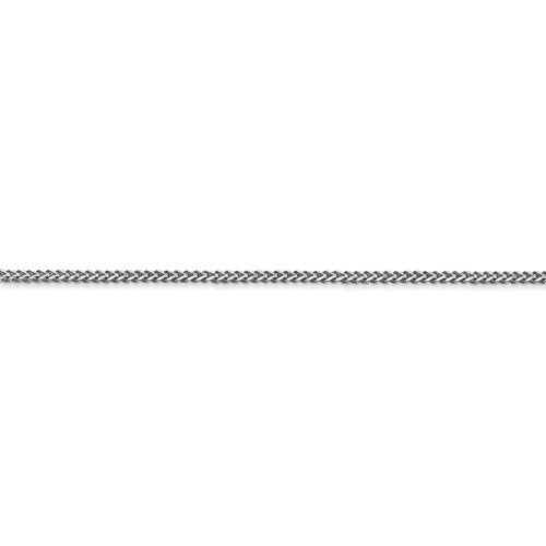 14K White Gold 1mm Franco Bracelet Anklet Choker Necklace Pendant Chain