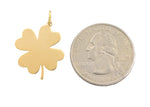 Load image into Gallery viewer, 14K Yellow Gold Clover Shamrock Pendant Charm Engraved Personalized Monogram