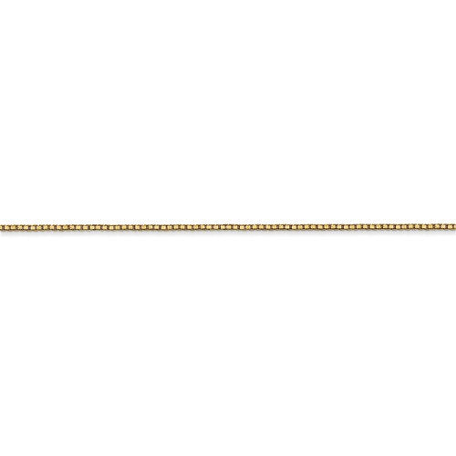 14K Yellow Gold 0.90mm Box Bracelet Anklet Choker Necklace Pendant Chain Lobster Clasp