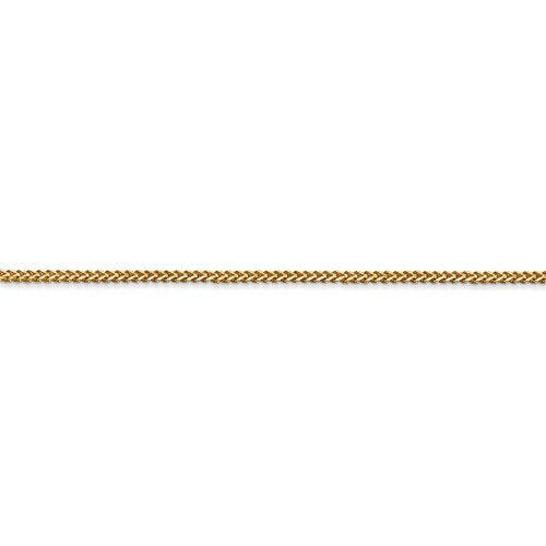 14K Yellow Gold 1mm Franco Bracelet Anklet Choker Necklace Pendant Chain