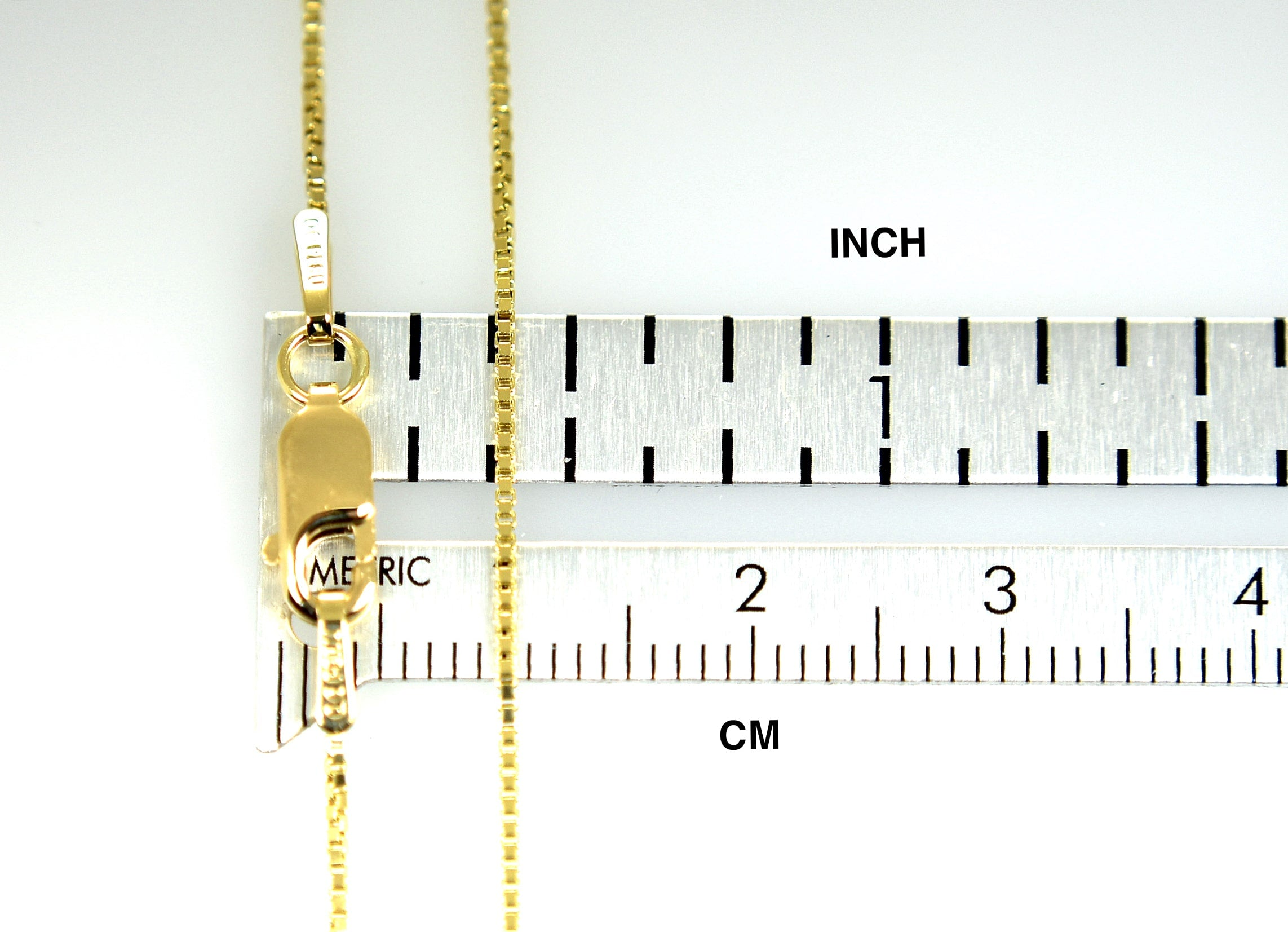 10k Yellow Gold 0.90mm Box Bracelet Anklet Choker Necklace Pendant Chain