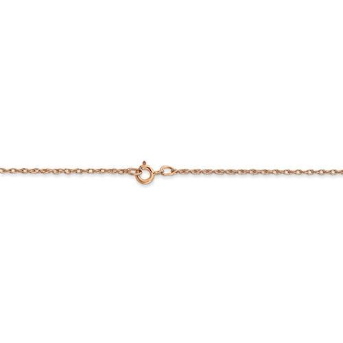 14k Rose Gold 0.70mm Thin Cable Rope Choker Necklace Pendant Chain