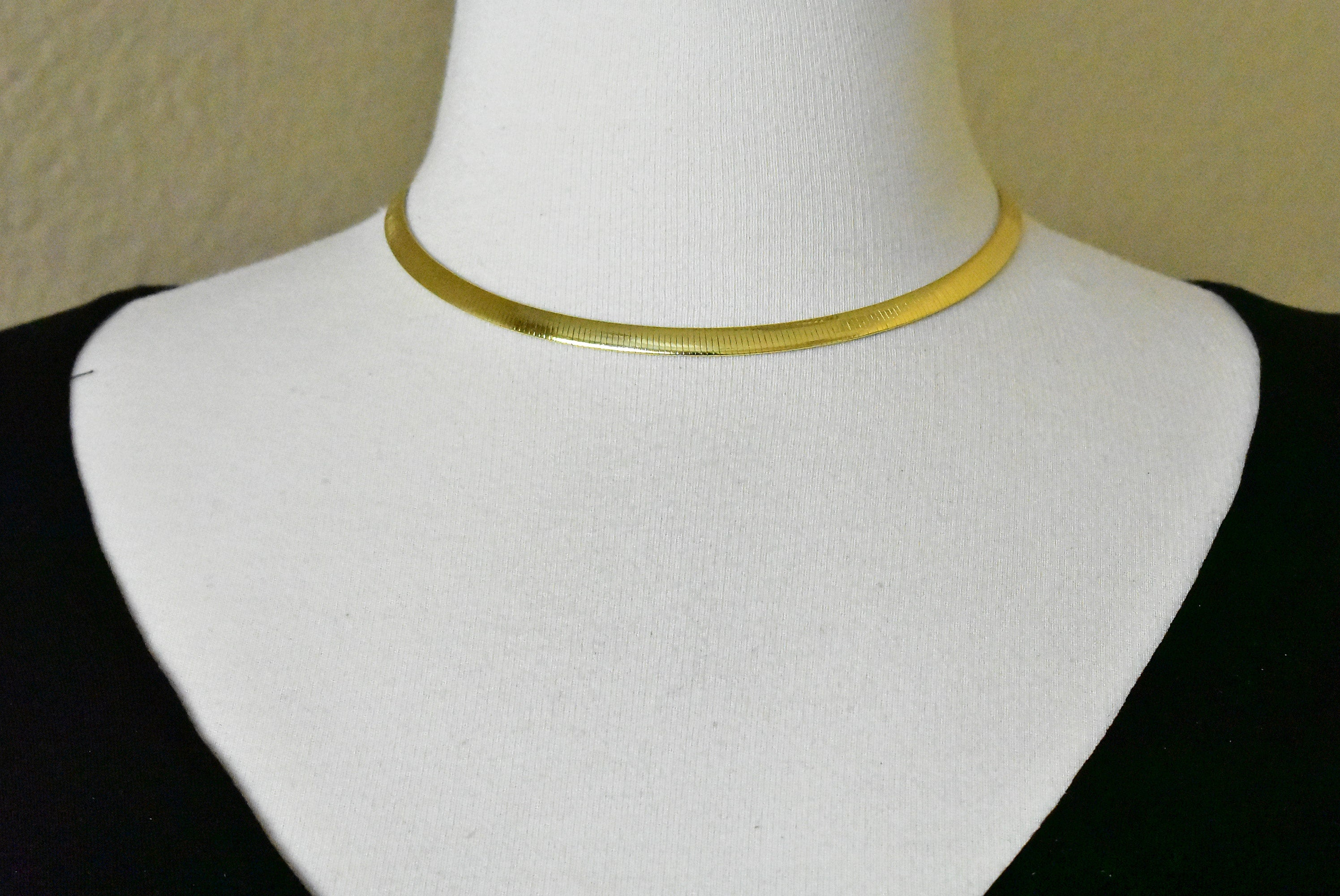 Sterling Silver Gold Plated Reversible 5.75mm Omega Cubetto Necklace Chain