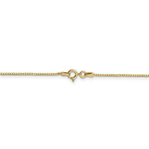 14K Yellow Gold 0.90mm Box Bracelet Anklet Choker Necklace Pendant Chain