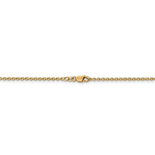 14K Yellow Gold 2mm Cable Bracelet Anklet Choker Necklace Pendant Chain Lobster Clasp